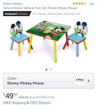 Mickey Mouse table n chairs Brookhaven, 11955