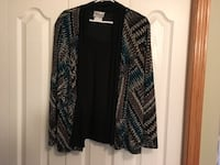 Jacket with shell attached, turquoise and black