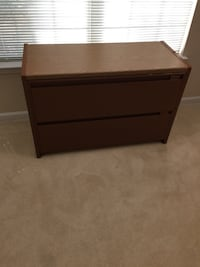 2-Drawer Lateral Steel File Cabinet, Brown Eugene, 97404