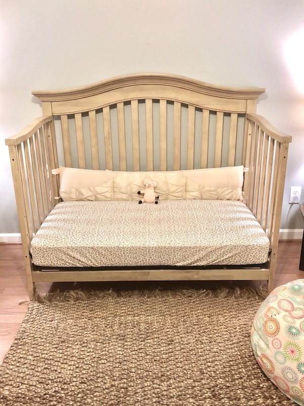 Used Baby Cache Montana Convertible Crib In Driftwood For Sale In