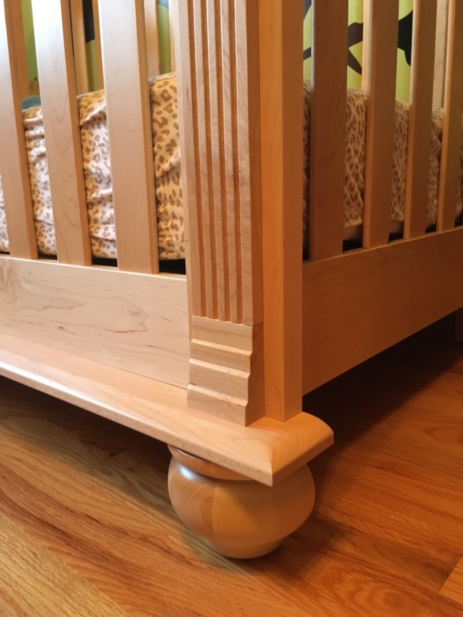 Two solid maple wooden convertible cribs - United States