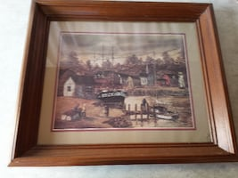 $5 Large Picture with Wood Frame