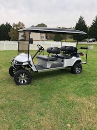 Silver and black golf cart La Plata, 20646