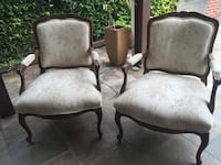 2 wooden-antique  padded armchairs Long Beach, 90807