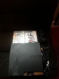 black Sony PS3 slim console with games Washington Township, 08080
