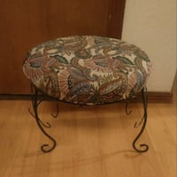 Wrought iron foot stool