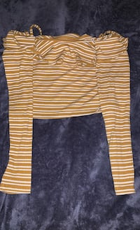 Yellow and white striped Crop Top Toronto, M1B 4G4