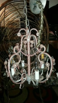 Pink Jeweled Chandelier