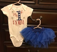 Baby girl 4th of July outfit. Size 12 Months. Used once Edinburg, 78539