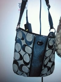 monogrammed black and gray Coach leather tote bag Tulsa, 74135