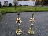 Pair of brass table lamps Burlington, 01803