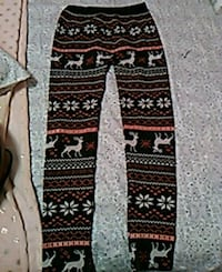 black, white, and red tribal print pants Clinton, 84015