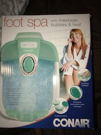 Foot spa comes with vibration and bubbles also comes with 3 different massage pad things for the bottoms of your feet.  Muskegon, 49442