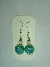 pair of silver-and-blue dangling earrings Inverness