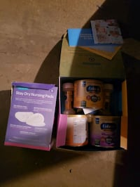 Free formula and breast pads