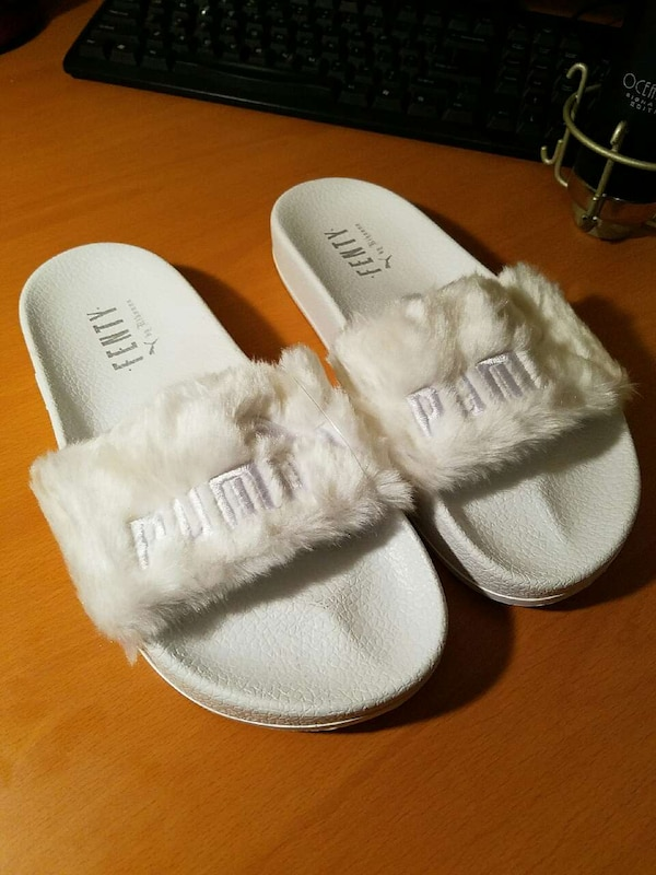 Used Puma x Rihanna Fenty Fur Slide Size 8   8.5 for sale in Sugar ... b08d6fba5