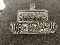 Crystal butter dish with handle top Markham, L3P 3J3
