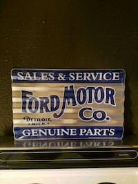Ford sales service parts corrugated metal sign