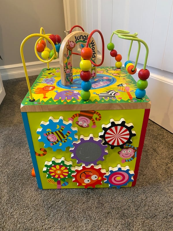 Jungle World Wooden Activity Cube 1