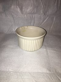 round white and brown ceramic container Frederick