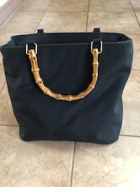 Nylon bag with Bamboo handles Newmarket, L3Y 7X2