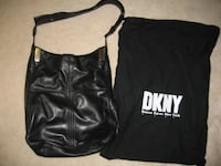 DKNY BLACK LEATHER HANDBAG Toronto
