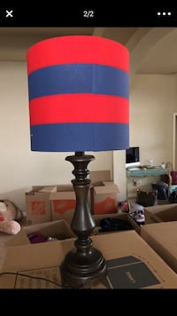 Texans color lamp red and navy table lamp Pearland, 77584