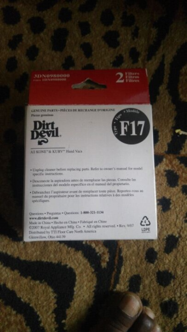 DIRT DEVIL FILTER/3DN0980000 5fec314c-1e27-457e-82c0-7e491056310f