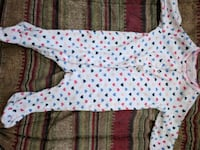 white and blue polka dot print carter footie  Clear Brook, 22624