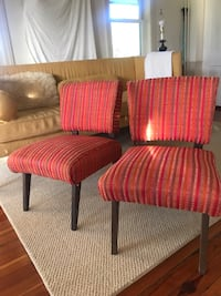 Two red-and-brown padded armchairs West Grove, 19390