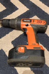 Ridgid 18 volt drill with battery