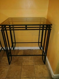 Glass iron heavy tall table.Its like new. Baltimore, 21215