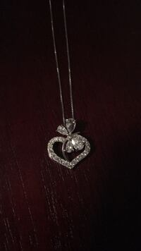 Silver chain necklace with heart pendant, cost: $400 Woodbridge, 22193