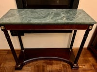 Bombay marble console table, price is firm. Toronto, M1M 3H2
