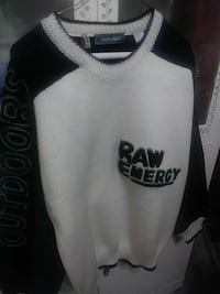 white and black Raw Energy v-neck sweater Germantown, 20876