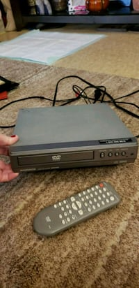 black DVD player with remote Danvers, 01923