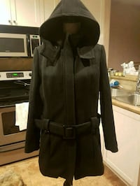 Wool Blend Woman's Belted Jacket/Coat - size Large Coquitlam, V3E 3A1