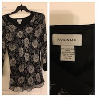 Black and gray floral scoop-neck shirt Frederick, 21703