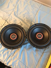 two black and gray subwoofers Leesburg, 20176