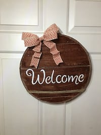 "Welcome Front Door Hanging Sign 15"" Lyman, 29365"