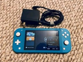 Blue Nintendo switch