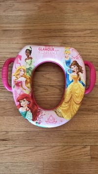 pink and white glamour princess print potty trainer seat Ashburn, 20147