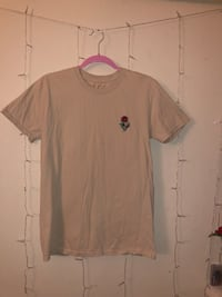Beige patched t-shirt