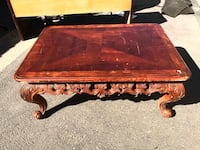 Brown wooden coffee table  Fresno