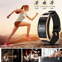 NEW 2018 Smart Bracelet Fitness Sport Tracker Activity Wristband+gift  Intelligent Watch Health Tracker Heart Rate Blood Pressure Oxygen Monitor Pedometer...  •	MAIN FUNCTION: 24 hours real time dynamic Heart rate monitoring, blood pressure, SPO2H oxygen, Mont-Royal, H3R 1G7
