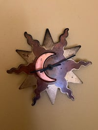Small Gold Starburst Clock Waterford