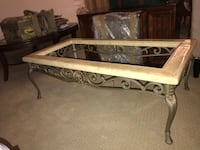 Rectangular glass top coffee table 43 km