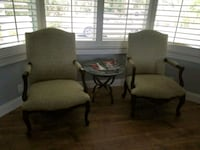 2 highend chairs with table
