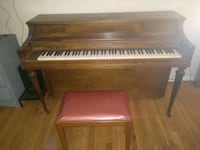 brown wooden upright piano with seat Galena, 43021