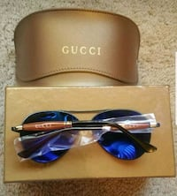 black and blue framed sunglasses with case Santa Fe Springs